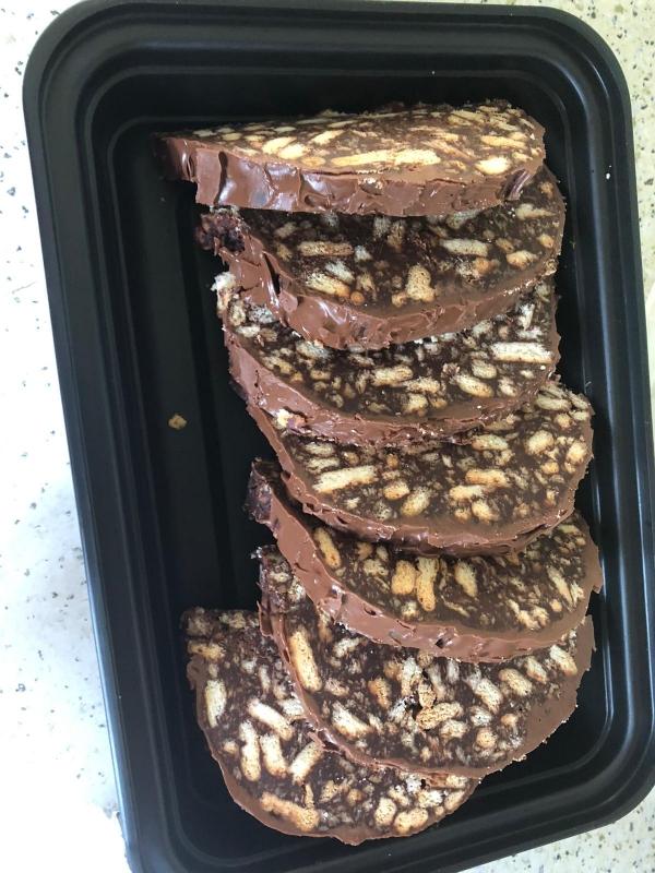 Ricetta Salame di Cioccolato e biscotti