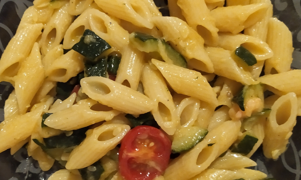 Pennette con Zucchine e Gamberetti
